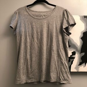 Coldwater Creek cotton blend grey tee- Large- NWOT